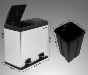 poubelle songmics 48 litres dimensions