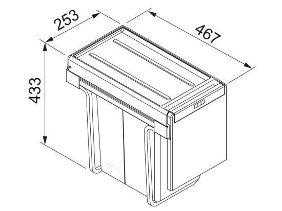 poubelle encastrable sous evier franke sorter cube 30 dimensions