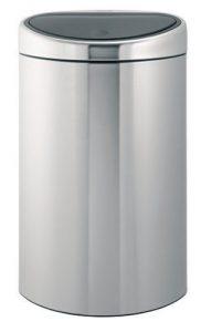 poubelle mecanique Brabantia Touch Bin 40 inox