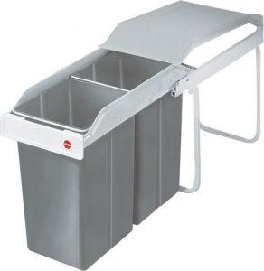Hailo 3659 poubelle encastrable 2x15 L