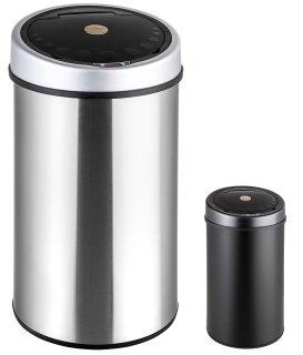 poubelle automatique TecTake les deux
