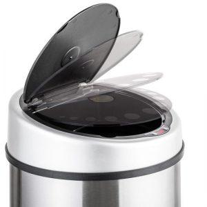poubelle TecTake 50 litres ouverture