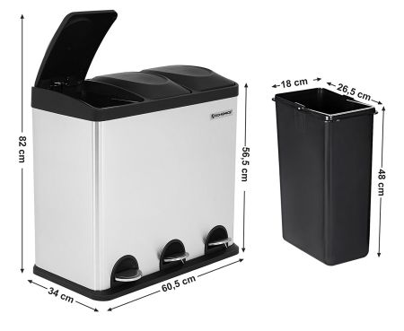 poubelle Songmics 54 litres dimensions