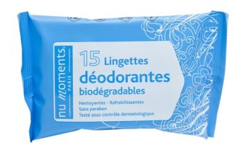 enlever odeur poubelle lingettes desodorantes parfumees