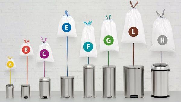 poubelles tailles differentes