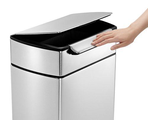 poubelle simplehuman 40 litres touch bar