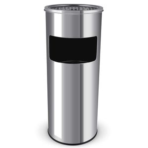 poubelle cendrier extérieur Homfa Inox